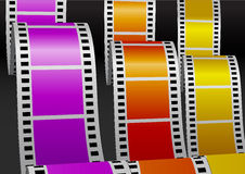 Three color bending films Royalty Free Stock Photo