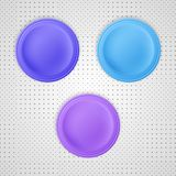 Three color blank badges Royalty Free Stock Images