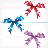Three color bows Stock Photo