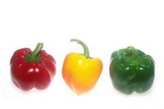 Three color Capsicum royalty free stock photo