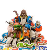 Three color Chinese god on roof Stock Images