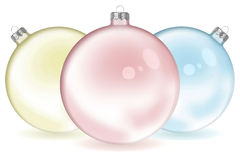 Three Color Christmas ball Royalty Free Stock Photos