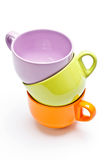 Three color cups Stock Photo