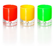 Three Color Glasses Royalty Free Stock Photos