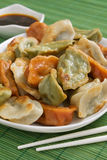 Three Color Jiaozi Stock Photography