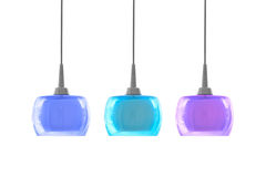 Three color modern ceiling light Stock Photo