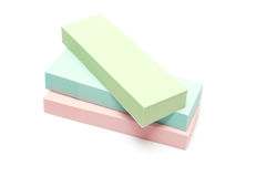 Three color of note paper Royalty Free Stock Images