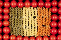 Three color pasta like symbol Italian flag Stock Images
