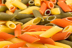 Three color penne pasta Royalty Free Stock Photography