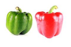 Three color peppers Stock Photo