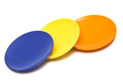 Three color plates Royalty Free Stock Photography