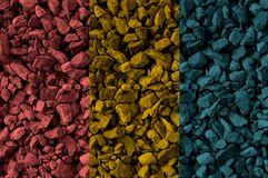 Three color rocks Stock Images