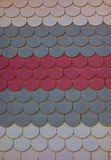 Three Color Scale Shingles Stock Images