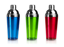 Three color shakers Stock Photography