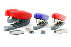 Three color Stapler Stock Photos