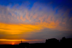 Three color sunset Stock Photo