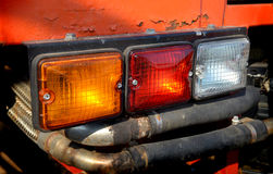 Three color taillight lamp of truck. Three color taillight lamp of 4wd truck Stock Images