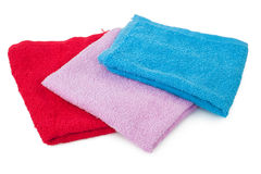 Three color towels Royalty Free Stock Photo