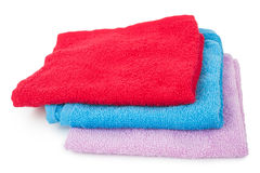 Three color towels Royalty Free Stock Image