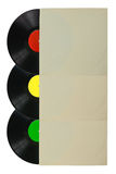 Three color vinyl record Royalty Free Stock Image