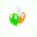 Three colored balloons Royalty Free Stock Photos