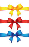 Three colored bows Royalty Free Stock Image