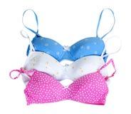 Three colored bra Stock Image