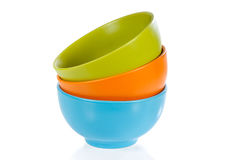 Three Colored Ceramic Cups Royalty Free Stock Photo