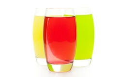 Three colored cocktail Stock Image