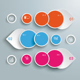 Three Colored Drops Batched Circles Infographic Royalty Free Stock Photography