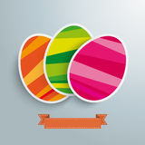 Three Colored Easter Eggs Stock Images