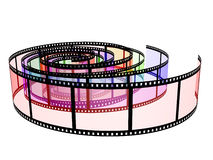Three colored filmstrips Stock Image