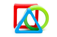 Three colored geometric forms Royalty Free Stock Image