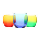 Three colored glasses Royalty Free Stock Photo