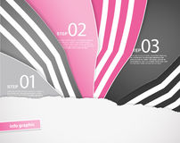 Free Three Colored Papers With Place For Your Own Text. Royalty Free Stock Photos - 41516478