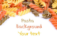 Three colored pasta Royalty Free Stock Image