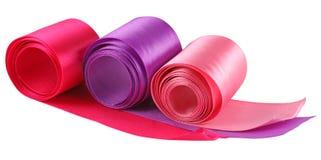 Three colored ribbons Royalty Free Stock Image