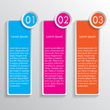 Three colored speech banners. Three banners for your design Stock Images