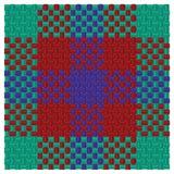 Three colored tartan Stock Photography