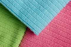 Three colored terry towels Royalty Free Stock Image