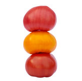 Three colored tomato Stock Photos