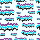 Three-colored waves seamless texture Stock Image
