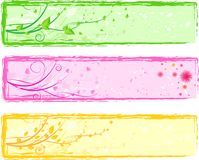 Three colorful abstract floral banners Stock Image