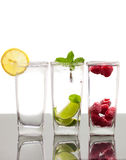 Three colorful  alcoholic drinks Royalty Free Stock Photo