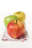 Three Colorful Apples Stock Photos