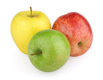 Three colorful apples Royalty Free Stock Photography