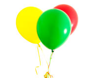 Three colorful balloons Royalty Free Stock Photo