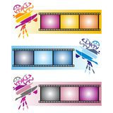Three colorful banners Stock Images