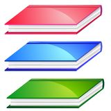 Three colorful books Royalty Free Stock Photo