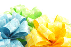 Three colorful bows isolated on white Stock Images